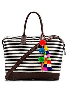JADEtribe Valerie Multi Tassel Weekender in Black