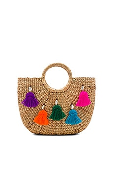 Mini Tassel Small Basket in Multi