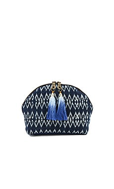 Seminyak Tassel Cosmetic Bag in Blau