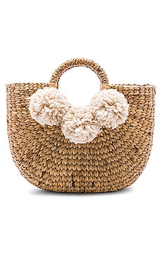 Small Sabai 3 Pom Basket JADEtribe $165