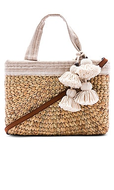 PANIER SABAI MINI SQUARE WITH LEATHER HANDLE JADEtribe $165