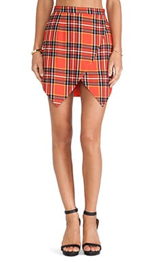 JAGGAR Poison Ivy Skirt in Red Plaid Print