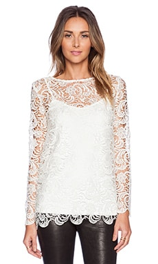 JAGGAR Dove Top in White Lace