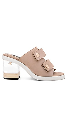 JAGGAR Accuracy Block Sandal in Nude