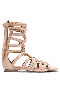 JAGGAR Zigzag Turns Sandal in Nude