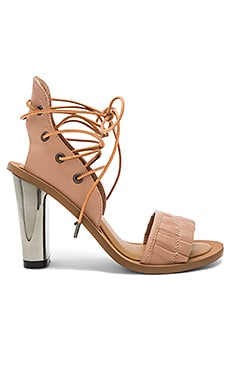 Pleat Heel in Nude