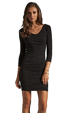 James Perse Soft Multi Layer Dress in Black