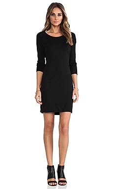 Raglan Sweatshirt Dress in Black