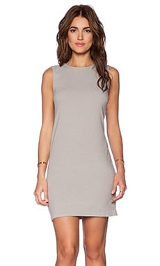 James Perse Jersey Shift Dress in Shadow