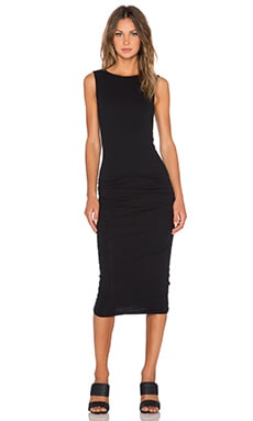 James Perse Open Back Skinny Dress in Black