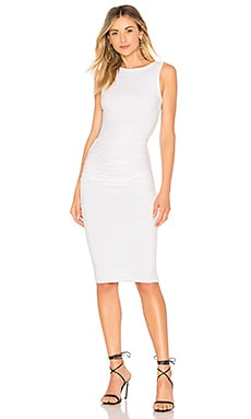 James Perse Open Back Skinny Dress in White
