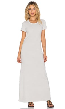 James Perse Voluminous T-Shirt Dress in Silver