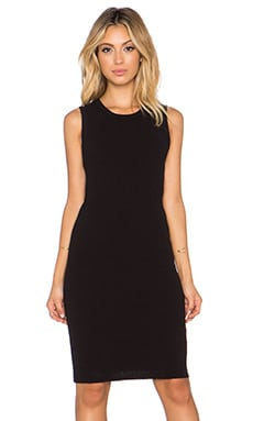 James Perse Crewneck Rib Tunic Dress in Black