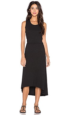 James Perse Blouson Back Tank Dress in Black