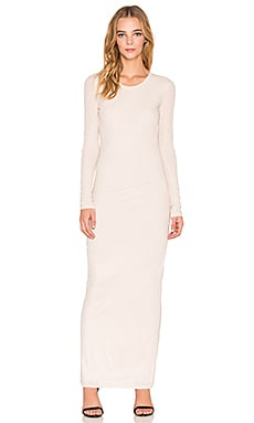 James Perse Skinny Crew Long Sleeve Dress in Bergamont