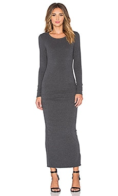 James Perse Skinny Split Dress in Heather Charcoal