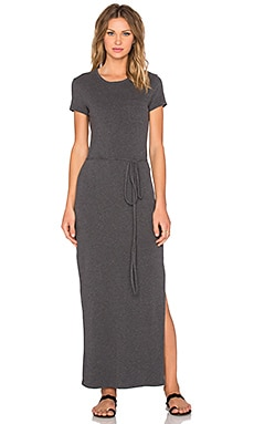 Long Pocket Tee Dress in Heather Charcoal