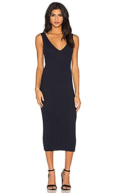 V Neck Maxi Dress en Marine