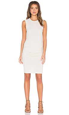 James Perse Skinny Crew Neck Tank Dress in Heather Natural