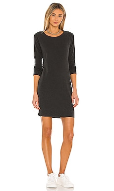 Raglan Sweatshirt Dress in Carbon