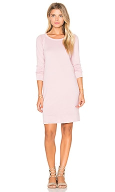 James Perse Raglan Sweatshirt Dress in Antique Rose