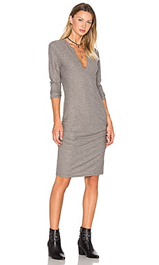 Henley Dress en Anthracite