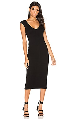 V Neck Dress en Noir