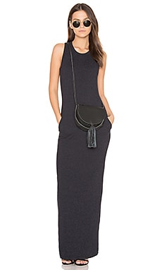 Sleeveless Maxi Dress in French Navy