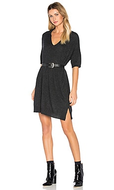 Cashmere Polo Dress in Anthracite