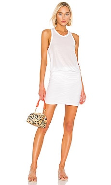 Racerback Blouson Dress James Perse $123