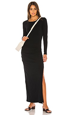Sueded Jersey Long Sleeve Split Dress James Perse $265