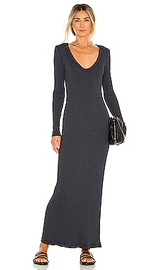V Neck Rib Dress James Perse $205
