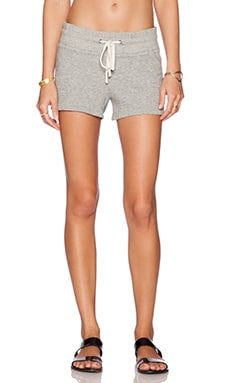 James Perse Fleece Short in Heather Grey