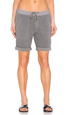 James Perse Super Soft Twill Utility Short in Silverfox