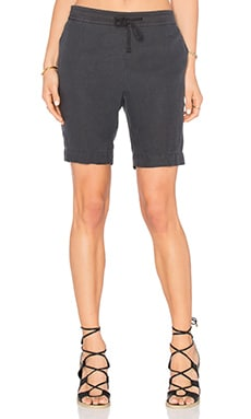 James Perse Pull On Trouser Short in Carbon