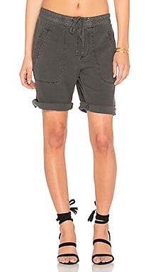 Super Soft Twill Utility Short in Carbon