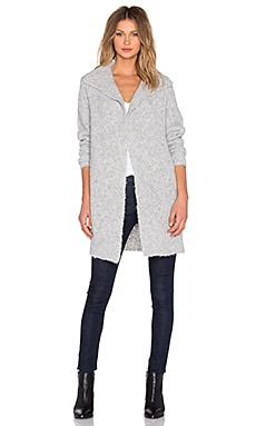 James Perse Boucle Cardigan in Light Heather Grey