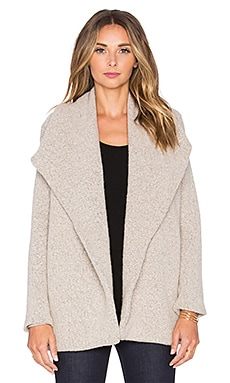 James Perse Open Drape Cardigan in Cement