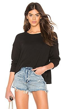 Relaxed Cropped Pullover James Perse $135 BEST SELLER
