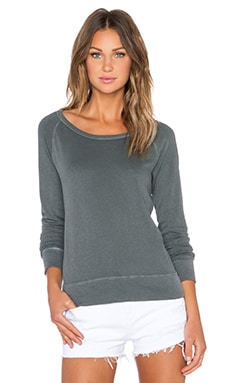 James Perse Classic Raglan Sweatshirt in Cartridge