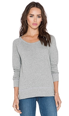 James Perse Classic Raglan Sweatshirt in Heather Grey