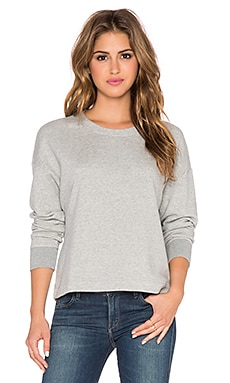 James Perse Cut Edge Sweatshirt in Heather Grey