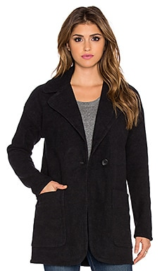 James Perse Boucle Coat in Black