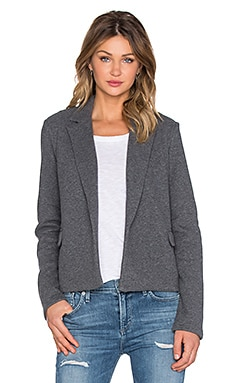 James Perse Cropped Fleece Coat in Charcoal