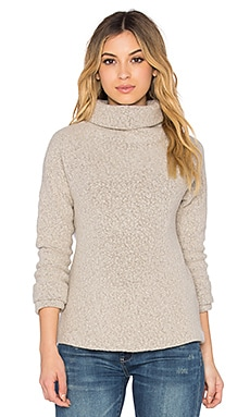 James Perse Raglan Funnel Neck Sweatshirt in Cement