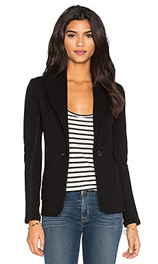 James Perse Shawl Collar Blazer in Black