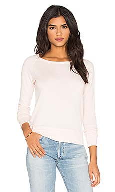 James Perse Classic Raglan Sweatshirt in Zephyr
