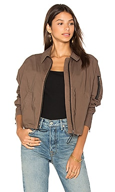 Batwing Bomber Jacket in Army Green
