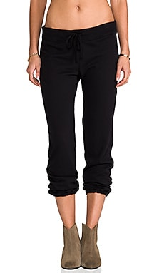 James Perse Vintage Cotton Genie Pant in Black