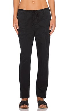 James Perse Drawstring Boyfriend Pant in Black